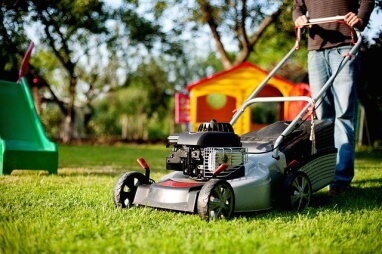 Tenant lawn mowing